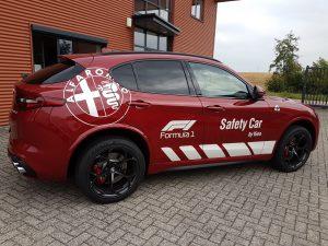 Safety Car Alfa romeo autobelettering PD-Reklame