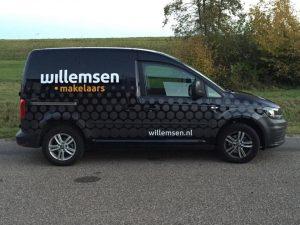 Willemsen makelaars Sign autobelettering PD-Reklame
